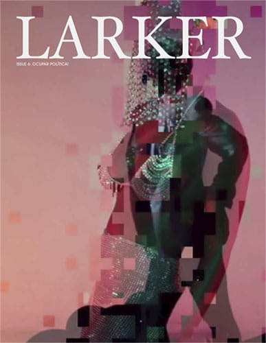 larker magazine cover, a mixed media art piece featuring a black person dripping with jewelry