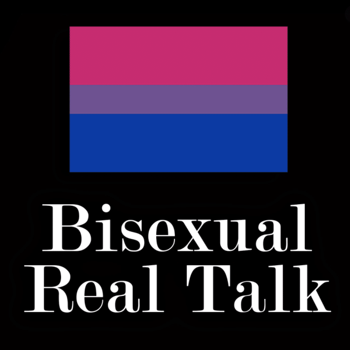 bisexual real talk podcast cover art