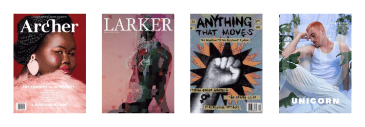 4 periodical covers from the bi pan library collection