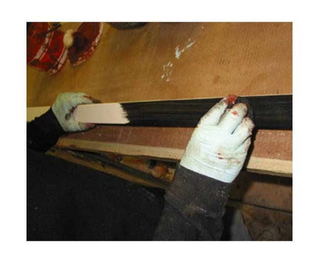 Подготовка багета к ручной отделке