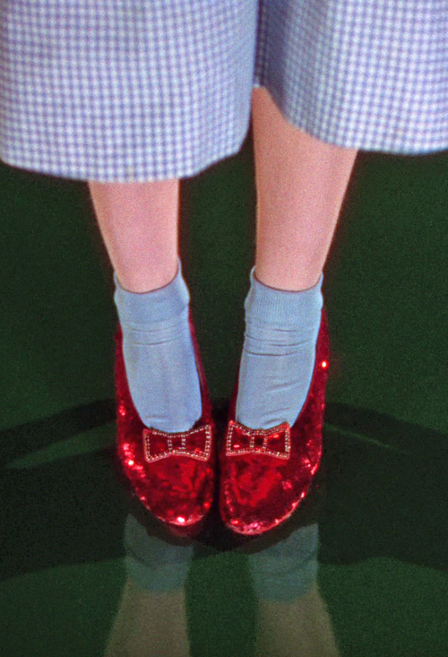 Picture of Dorothy in Wizard of Oz wearing her Ruby Red Slippers