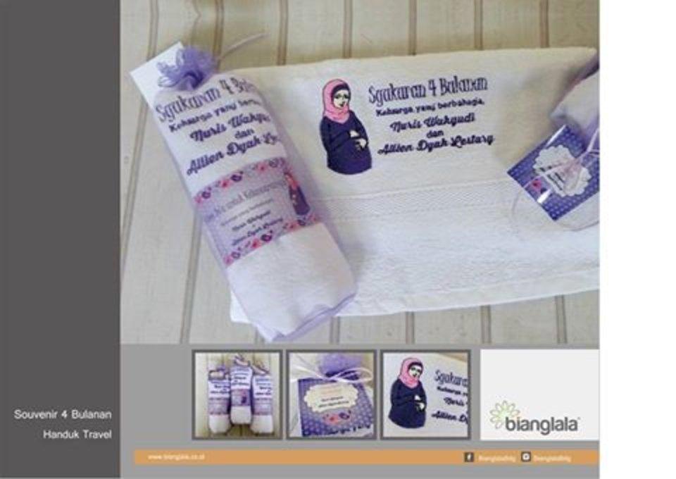 Handuk Bordir Pengajian Syukuran 4 Bulananan Kehamilan Handuk Bordir