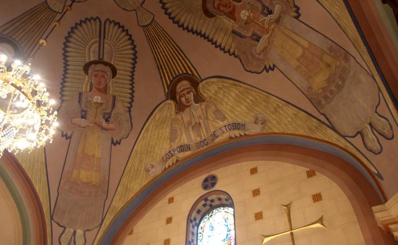 unutrašnjost oroslavske crkve-žbukorez varaždinskog slikara Julija Merlića (1)-001