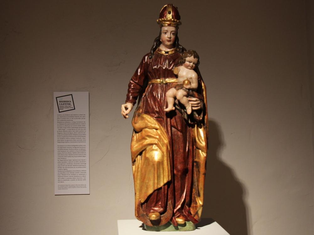Bogorodica s djetetom, Žakanje, župna crkva Uznesenja Blažene Djevice Marije, XVII. st.