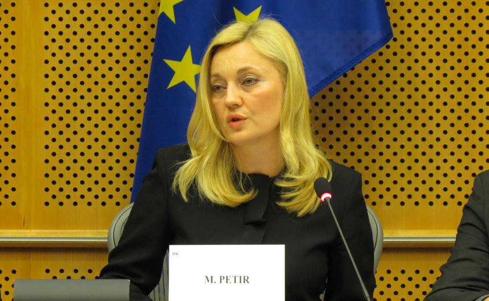 Organizatorica izložbe i konferencije, hrvatska eurozastupnica gospođa Marijana Petir.
