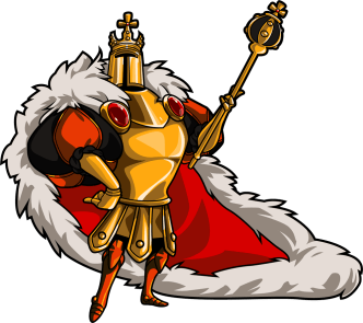 King Knight (Image credit to Yacht Club Games, retrieved from their Shovel Knight press kit)