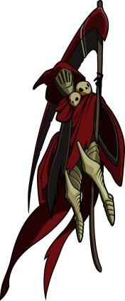 Specter Knight (Image credit to Yacht Club Games, retrieved from their Shovel Knight press kit)