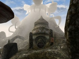 Telvanni towers twist and grow through the surrounding rock. (Image credit to Bethesda Softworks, retrieved from GOG.com's official Morrowind page)