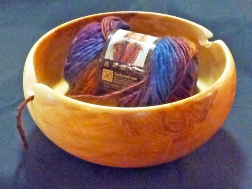 Finished Custom Birch Yarn Bowl