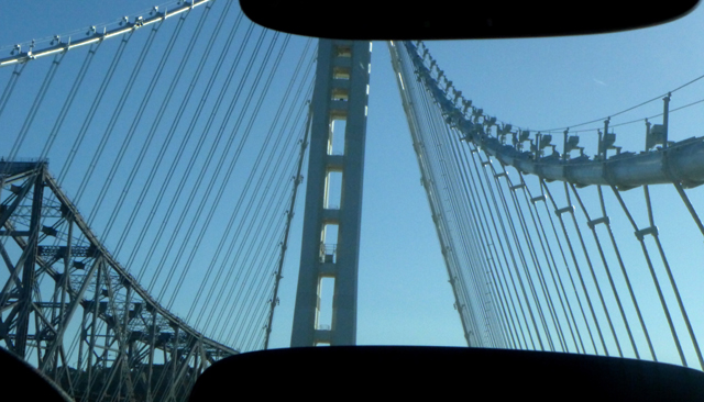 Suspension tower, new Bay Bridge