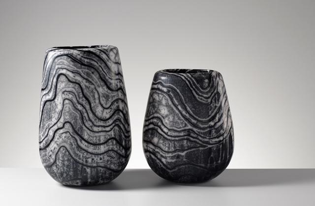 Moyra Stewart Lewisian Gneiss urns (photo Shannon Tofts)