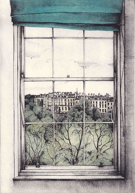 Pamela Grace - Summer Evening, Edinburgh (solar plate etching)