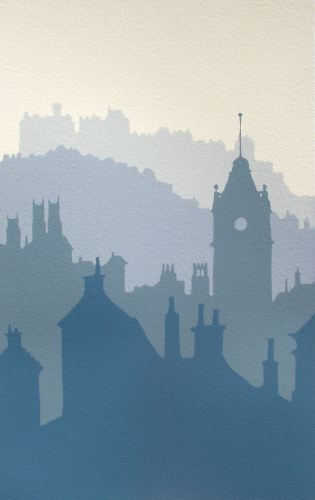 Ian Scott Massie. Edinburgh morning 30 x 40cm