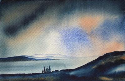 Ian Scott Massie. Mull from Ardnamurchan 30 x 40cm