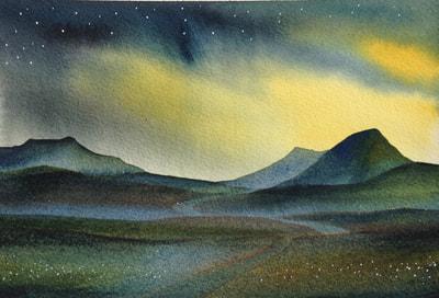 Ian Scott Massie. Ranoch Moor 30 x 40cm
