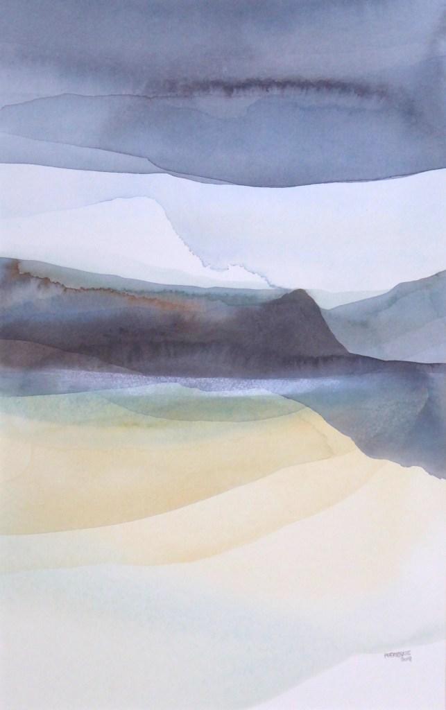Peter Davis. Glob, Watercolour on paper, 2018 (32x51cm)