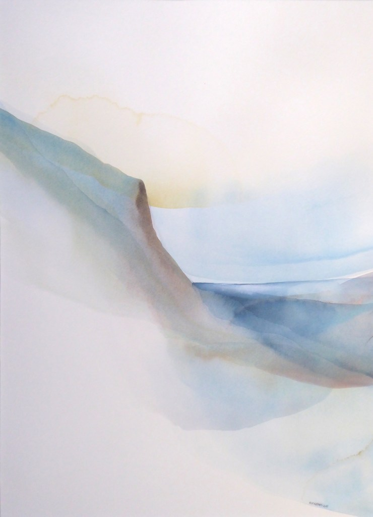 Peter Davis. Papa Geo, Watercolour on paper 2018, (71x50cm)