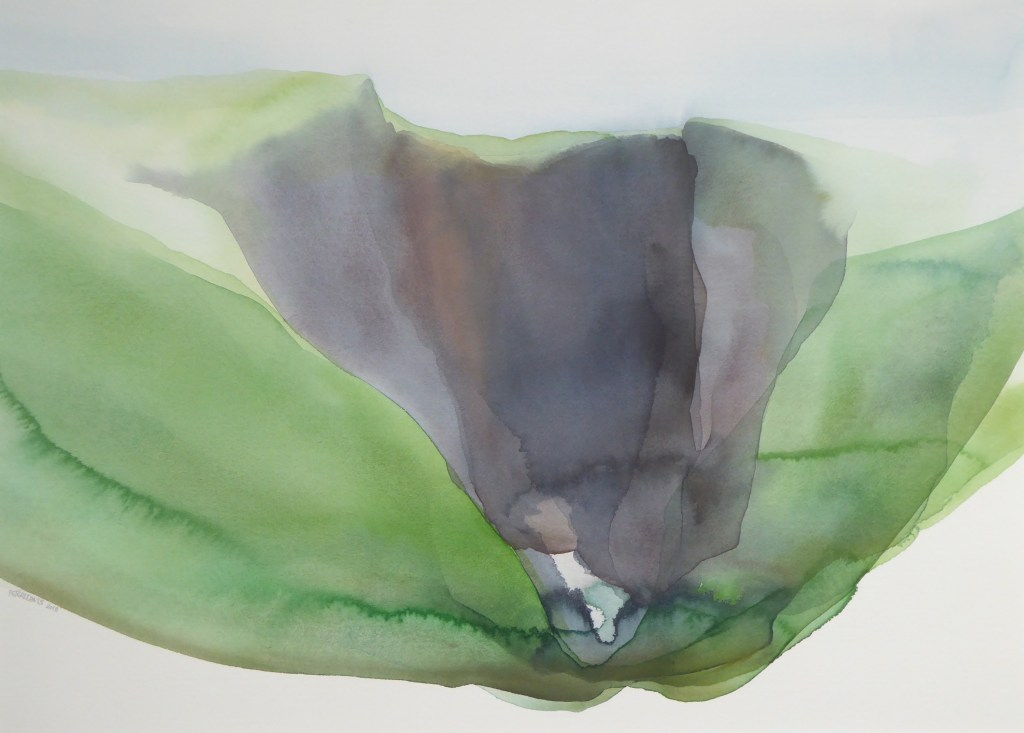 Peter Davis. Scraada, Watercolour on paper 2018, (70x51cm)
