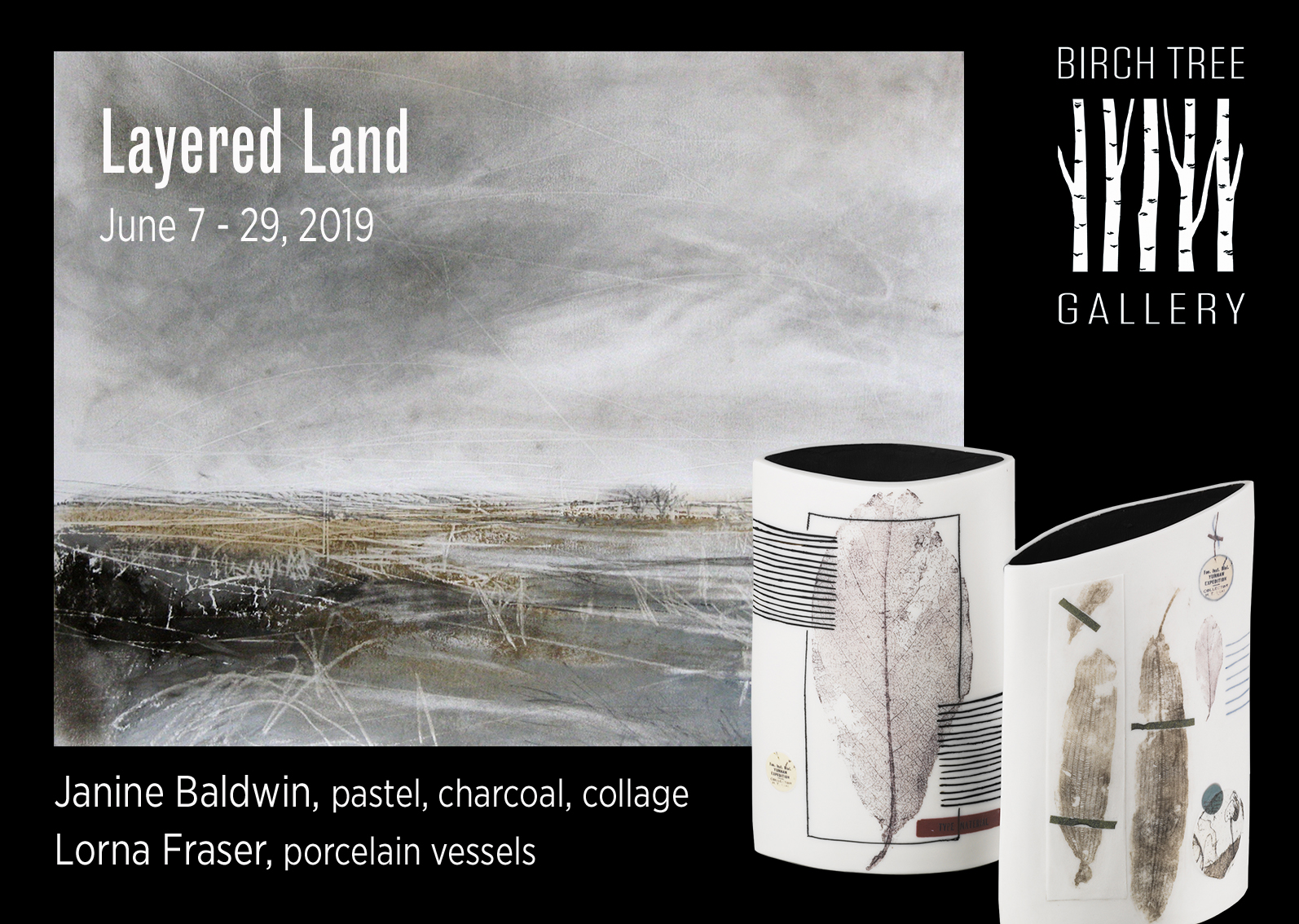 Birch Tree Gallery exhibition Layered Land