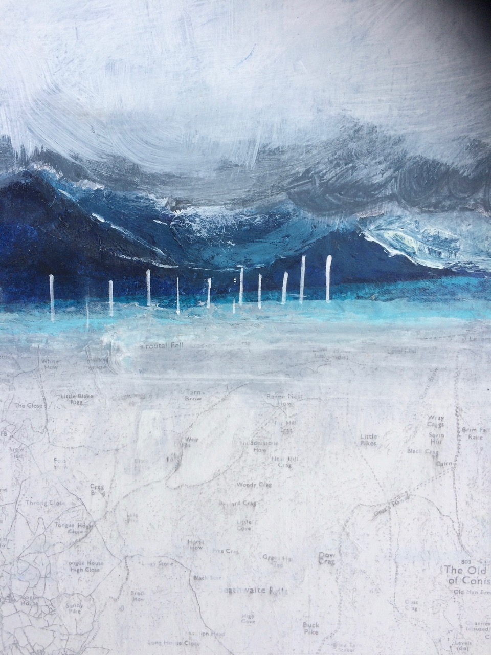 Catriona Taylor. Map of Mountains and Masts