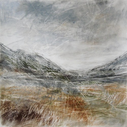 Glen-Nevis-II-Janine-Baldwin-pastel-charcoal-and-graphite-on-paper-34x34cm
