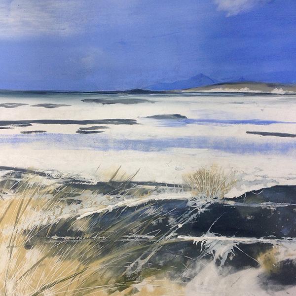 Helen Fryer. Blue Rum. 50x48.