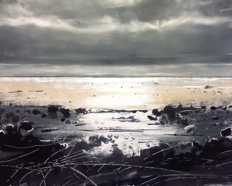 Helen Fryer. Late Evening, Allonby. 48x42.