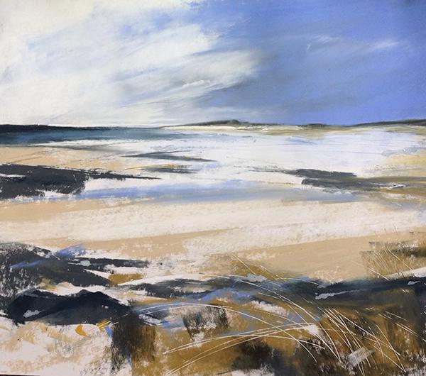 Helen Fryer. Low White Cloud Lifting. Sanna. 56x49