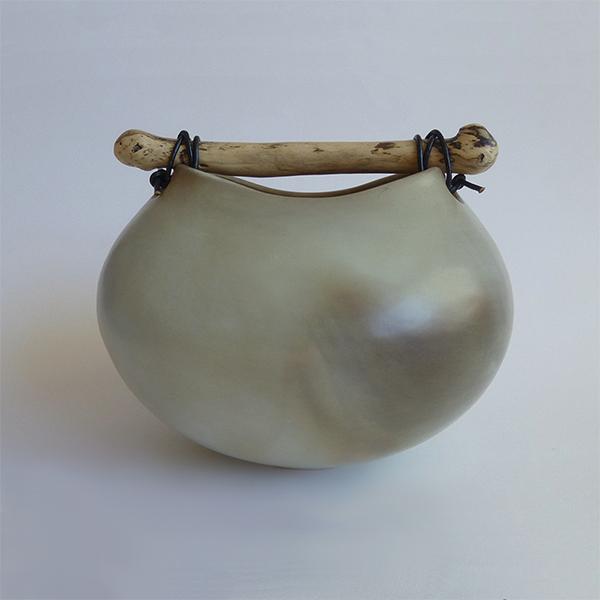 Anne Morrison. Smoked blue squat pot