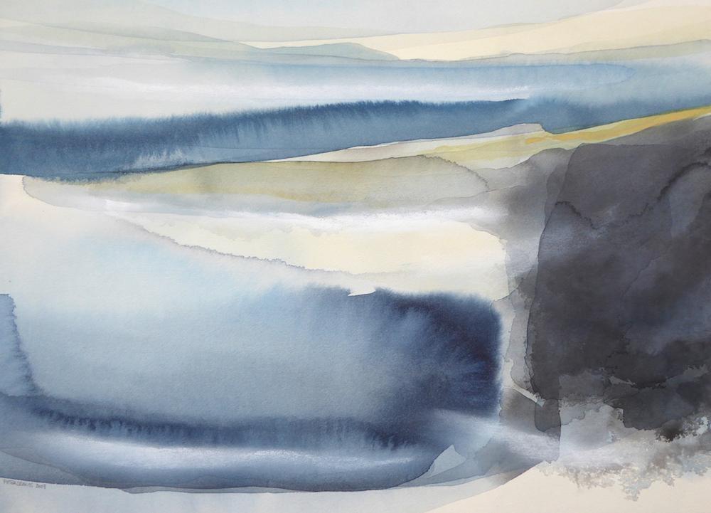 Peter Davis. Laebrack, Watercolour on paper 2019 (70x50cm)
