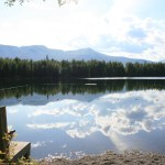 Psalm Lake in summer-- the swimming area