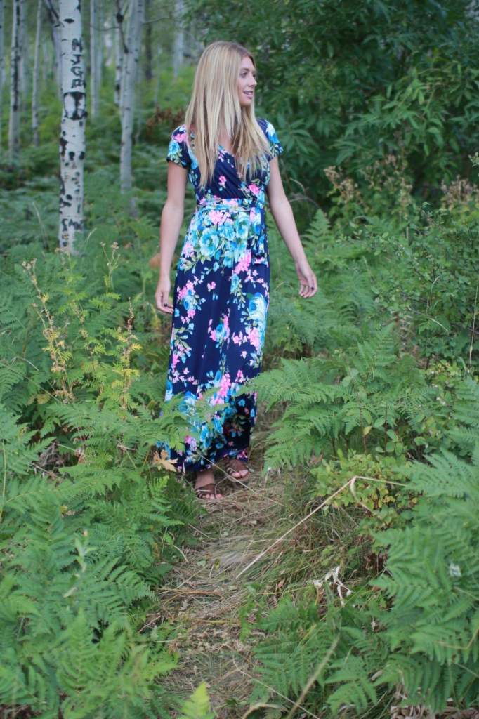 floral wrap dress boutique