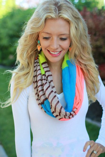 how to wear an infinity scarf birdalamode blogger