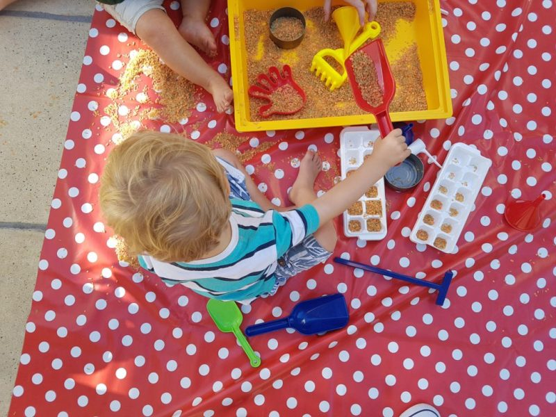 toddler sand activity