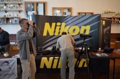 Stanowisko Nikona podczas targów Polish Bird Fair. Przywieziony sprzęt to m.in. Monarch 82 i Monarch 60.