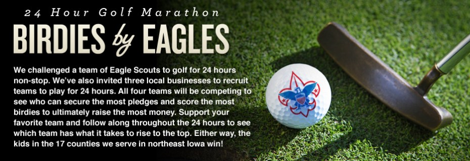 24 Hour Golf Marathon - Birdies by Eagles slide