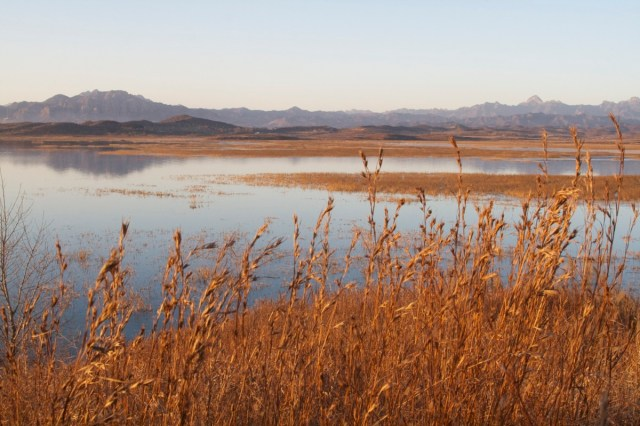 Miyun Reservoir on a clear autumn day.  It's hard to believe one is in Beijing!