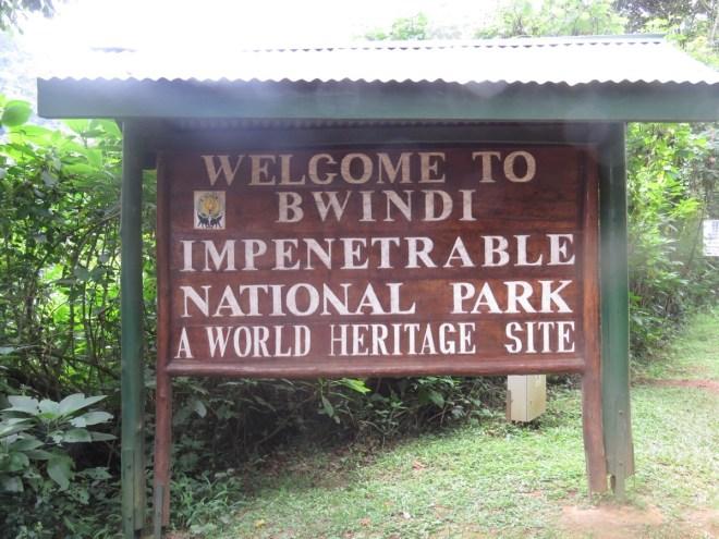 The entrance to Bwindi.