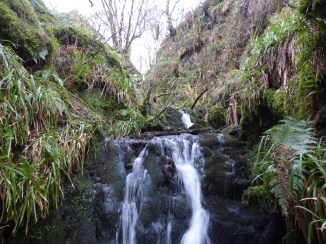 Water running, unlike the previous cleuch