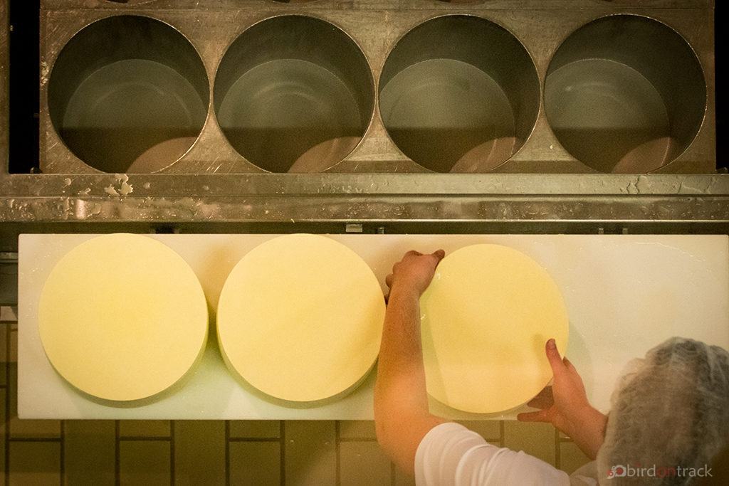 Preparing the Appenzell Cheese