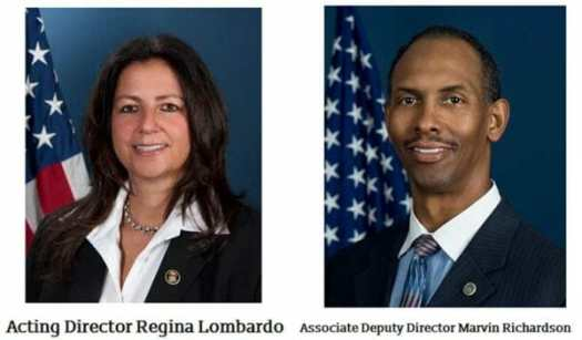 ATF Leadership 2020 Acting Director Regina Lombardo & Associate Deputy Director Marvin Richardson