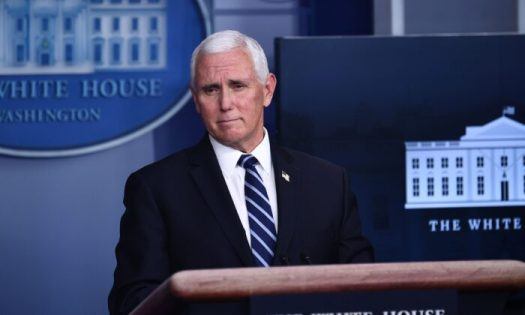 Vice President Mike Pence speaks during a White House Coronavirus Task Force press briefing in the James S. Brady Briefing Room of the White House on Nov. 19, 2020. (Brendan Smialowski/AFP via Getty Images)