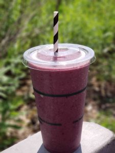 Boreal Organic Fruit Smoothie with a Paper Straw