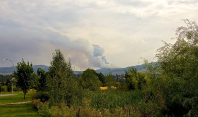 The Little White Mountain fire from home