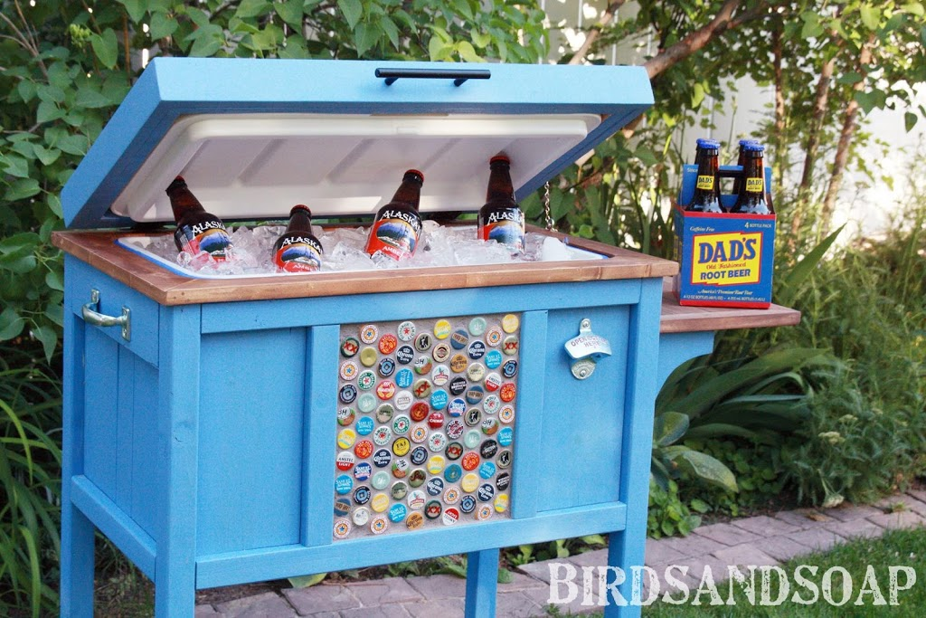"""- Give The €�Coolest"""" Father's Day Gift! A Cooler Stand DIY Tutorial"""