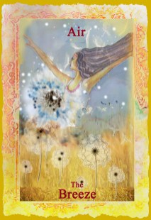 Air Element Angel Oracle Card Finished