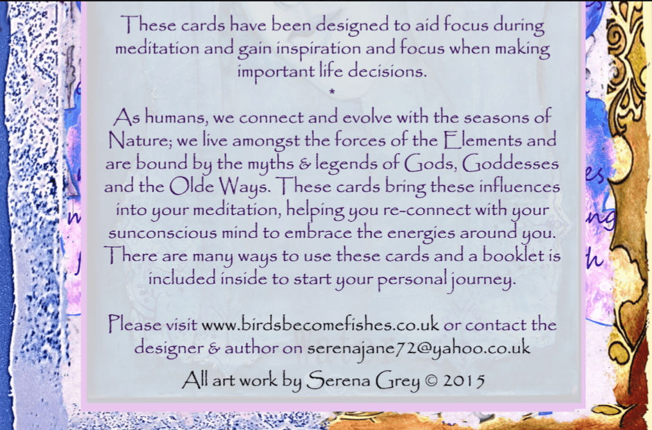 oracle card information front box enlarged