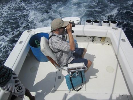 Josh scanning the seas