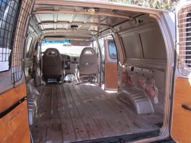 The bare bones van before we did any work