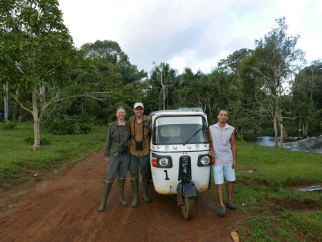 Kathi, Josh, and our moto carrito driver Andres